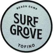 Surf Grove Logo on a fabric patch